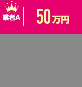 業者A:50万円、業者B:35万円、業者C:25万円
